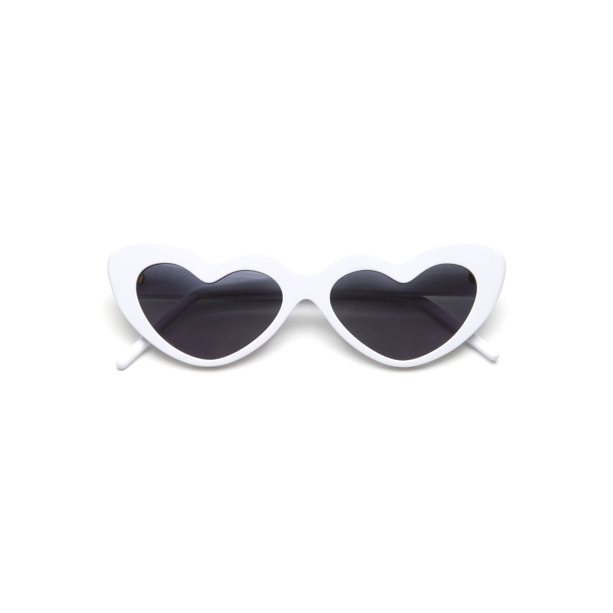 AKILA x CIRCULATE Gossip Heart Shaped Sunglasses white