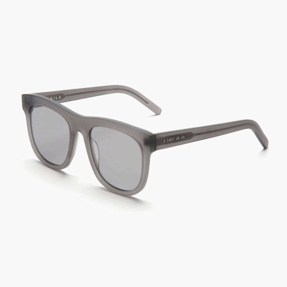 Akila Eyewear Genesis Sunglasses in Matte Grey / Smoke