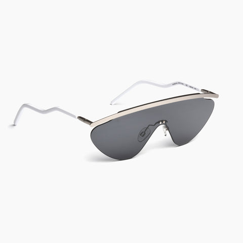Akila Eyewear Aero Sunglasses in White / Black