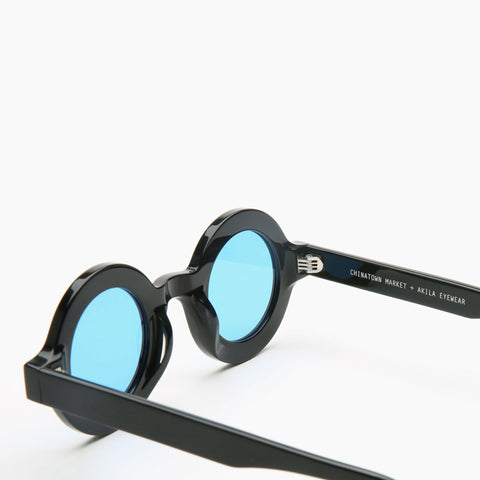 Akila Eyewear x Chinatown Market Have A Nice Day Sunglasses in Black / Blue