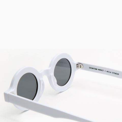 Akila Eyewear x Chinatown Market Have A Nice Day Sunglasses in White / Black