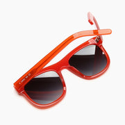 Akila Eyewear Genesis Sunglasses in Candy Red / Gradient