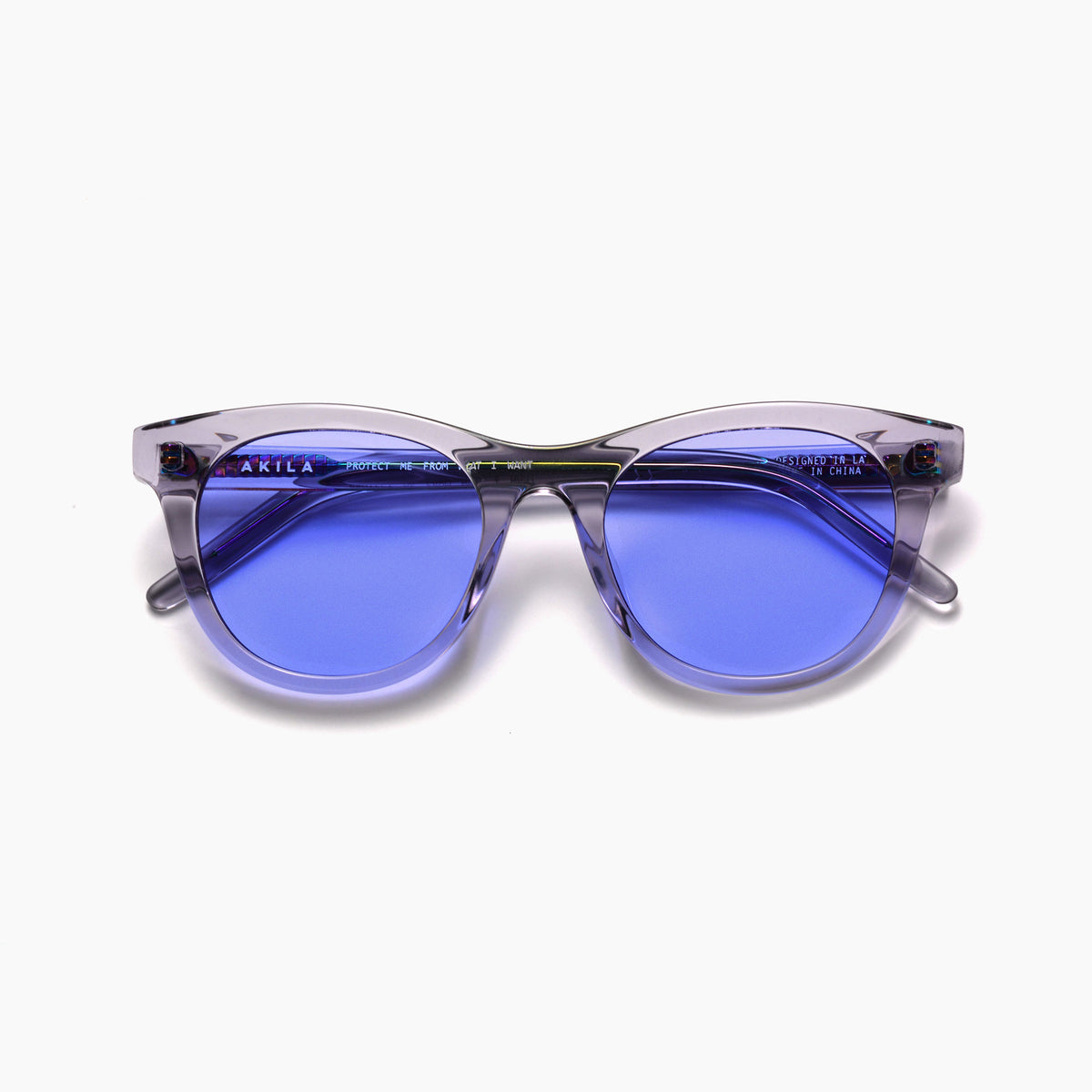 Akila Eyewear Studio Eclipse Sunglasses in Haze Grey / Violet