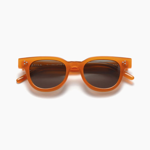 Akila Eyewear Legacy Sunglasses in Amber / Dark Green