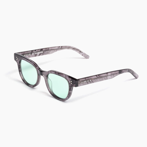 Akila Eyewear x Saintiva Legacy Sunglasses in Smoke / Light Green