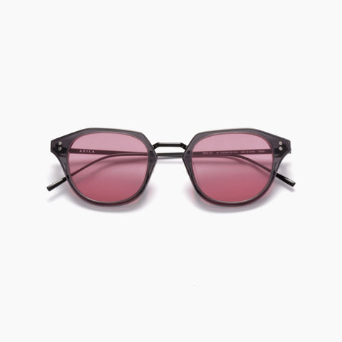 Akila Eyewear Theory Sunglasses in Dark Grey / Red
