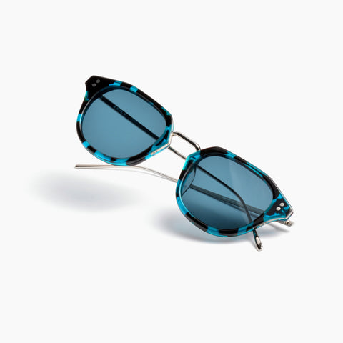 Akila Eyewear Theory Sunglasses in Teal Tortoise / Teal