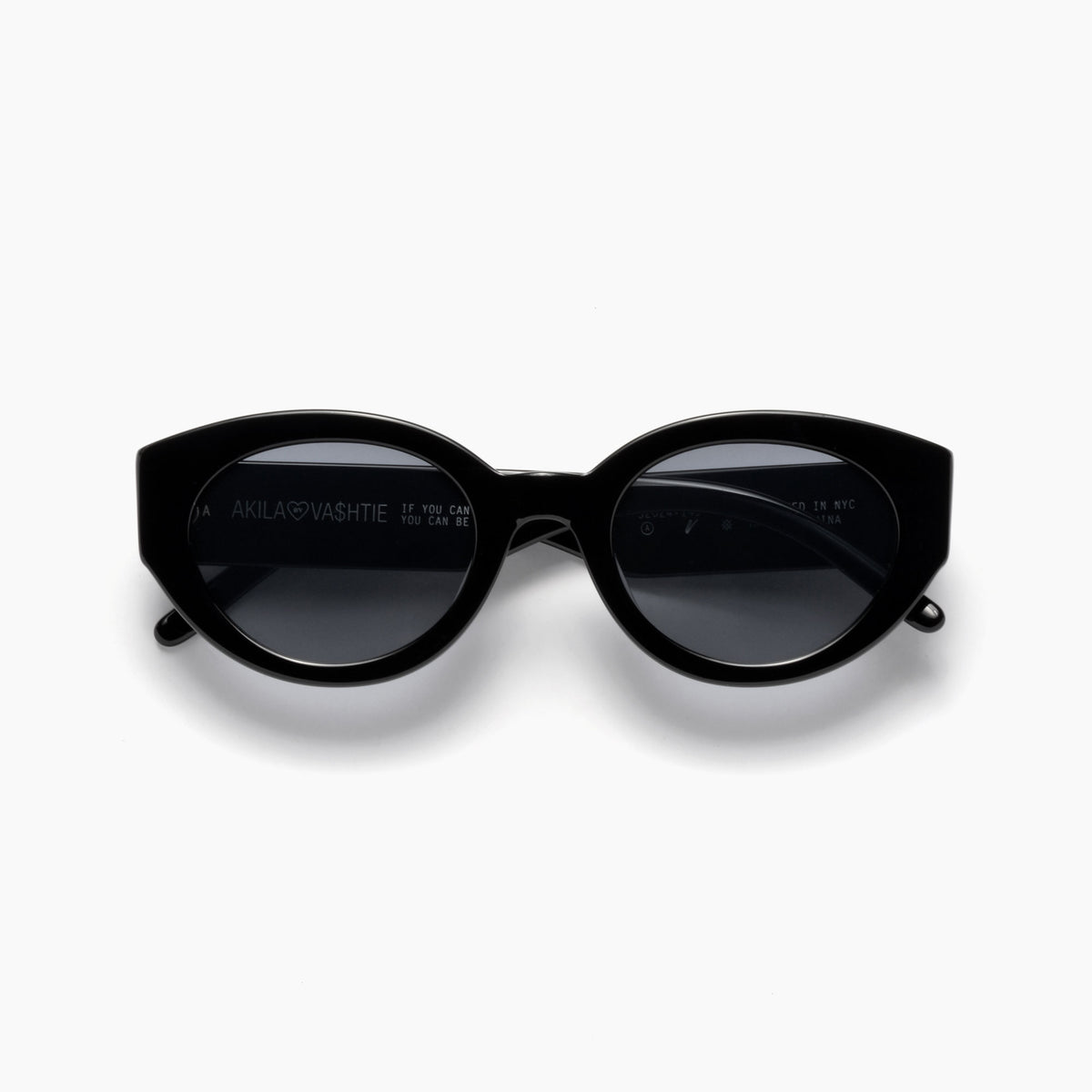 Akila Eyewear Abstract Sunglasses in Black / Black