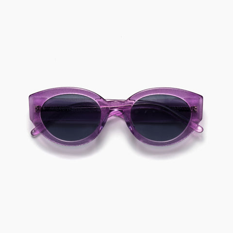 Akila Eyewear Abstract Sunglasses in Sparkle Violet / Black
