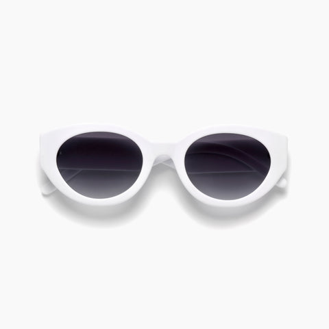 Akila Eyewear Abstract Sunglasses in Matte White / Gradient