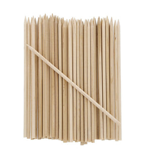 Pack of 100 Wooden Apple Skewers