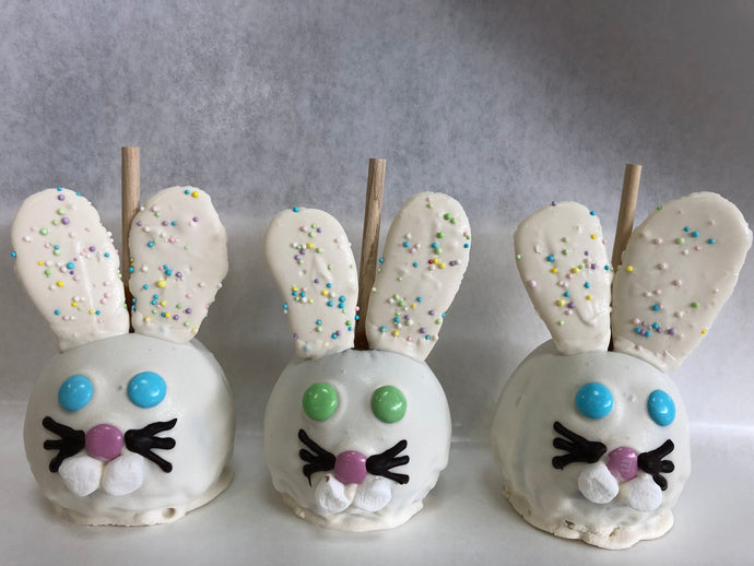 Easter bunny caramel apples pack