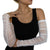 White Mesh Rouche Arm Sleeves