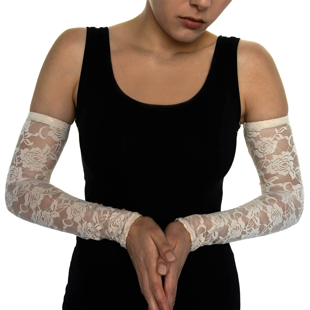 Rosé Lace Arm Sleeves