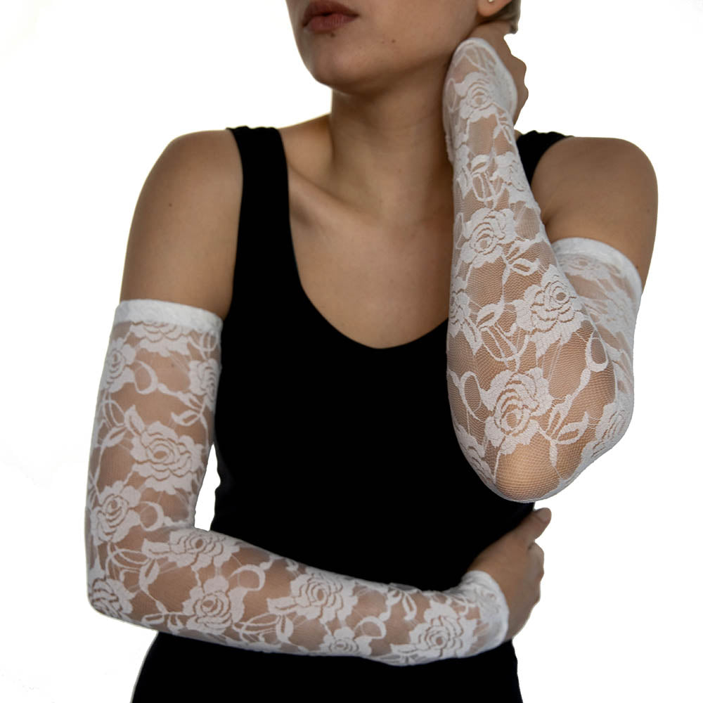 White Lace Arm Sleeves