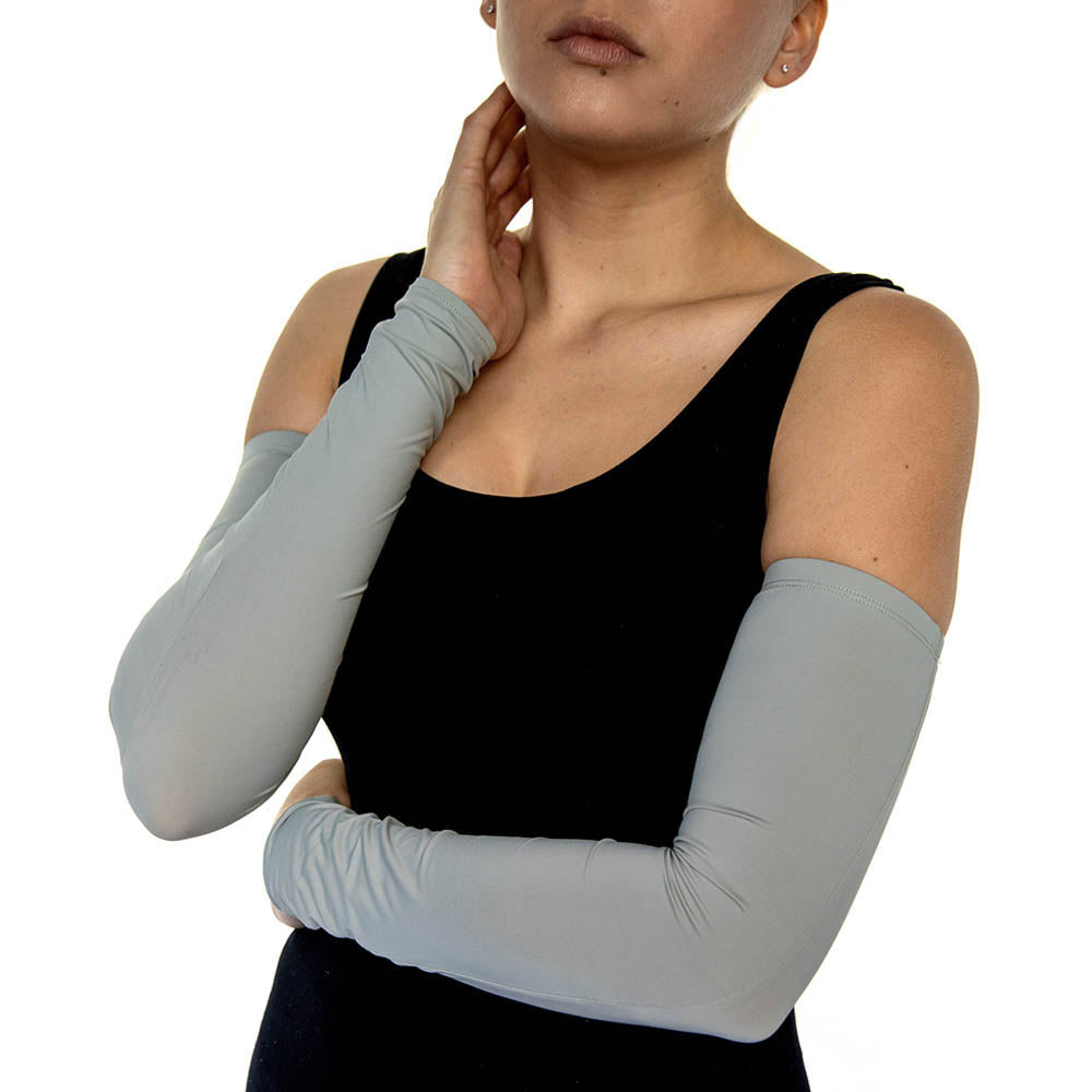 Light Grey Jersey Arm Sleeves