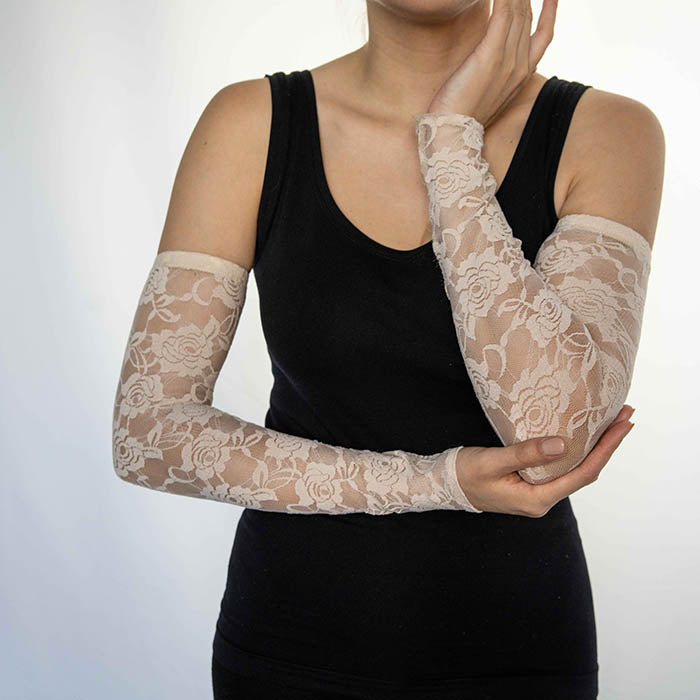 Lace Rosé Arm Sleeves