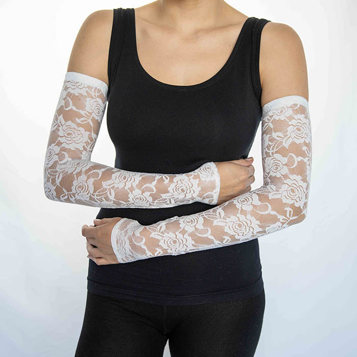 Lace White Arm Sleeves