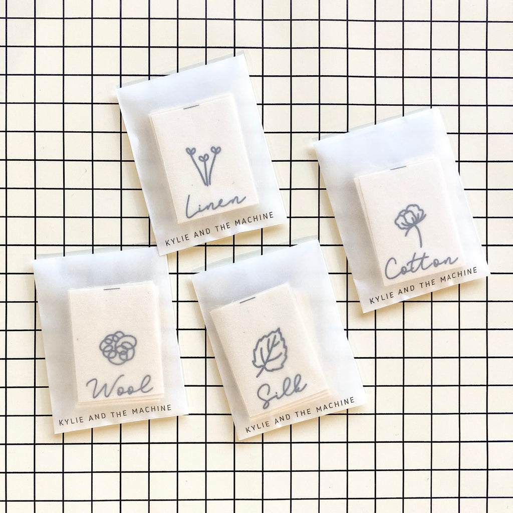 "*20% OFF* ""LINEN"" Cotton Labels 8 Pack"