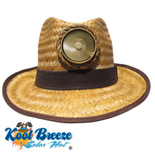 "Fedora ""Brown"" Solar Straw Hat w. Band"