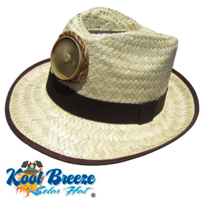 "Fedora ""Natural "" Solar Straw Hat w. Band"