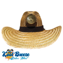 "Gentlemen's ""Brown"" Solar Straw Hat w. Feather"