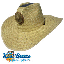 "Plain Gentlemen's ""Natural "" Solar Straw Hat"