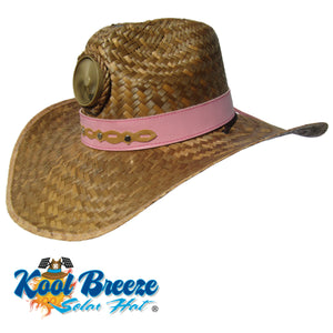 "Lady's Gentlemen ""Brown"" Solar Straw Hat w. Band"