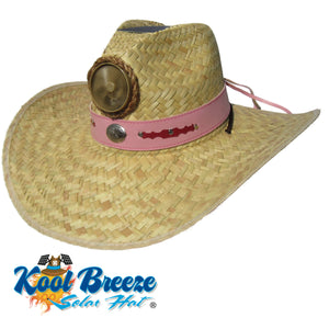 "Lady's Gentlemen's ""Natural"" Solar Straw Hat w. Band"