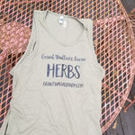 HERBS Tank Top - Military Green