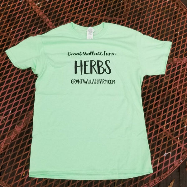HERBS T-shirt - Mint Green