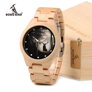 Game of Thrones Design Mens Watch Luxury Maple Wood Band Quartz Watch