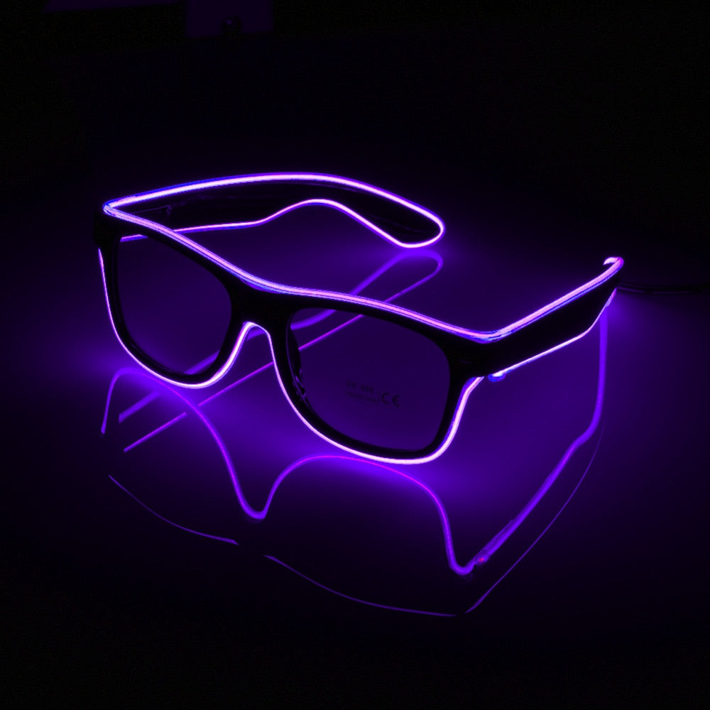 LED Glasses - Ideal for Festivals, Halloween, Parties, The Cooper (Rose), Ttonic, Illusions, whatever floats your boat really!