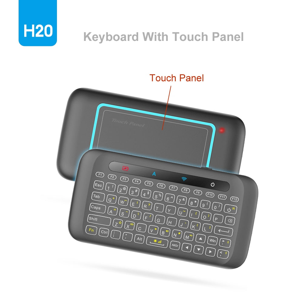 Wireless Remote Control Keyboard Backlit With Touchpad Air Mouse IR Learning