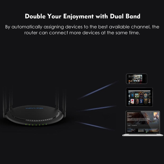 Best Ultra WiFi Booster Dual-band Smart WiFi Router Up 1200Mbps