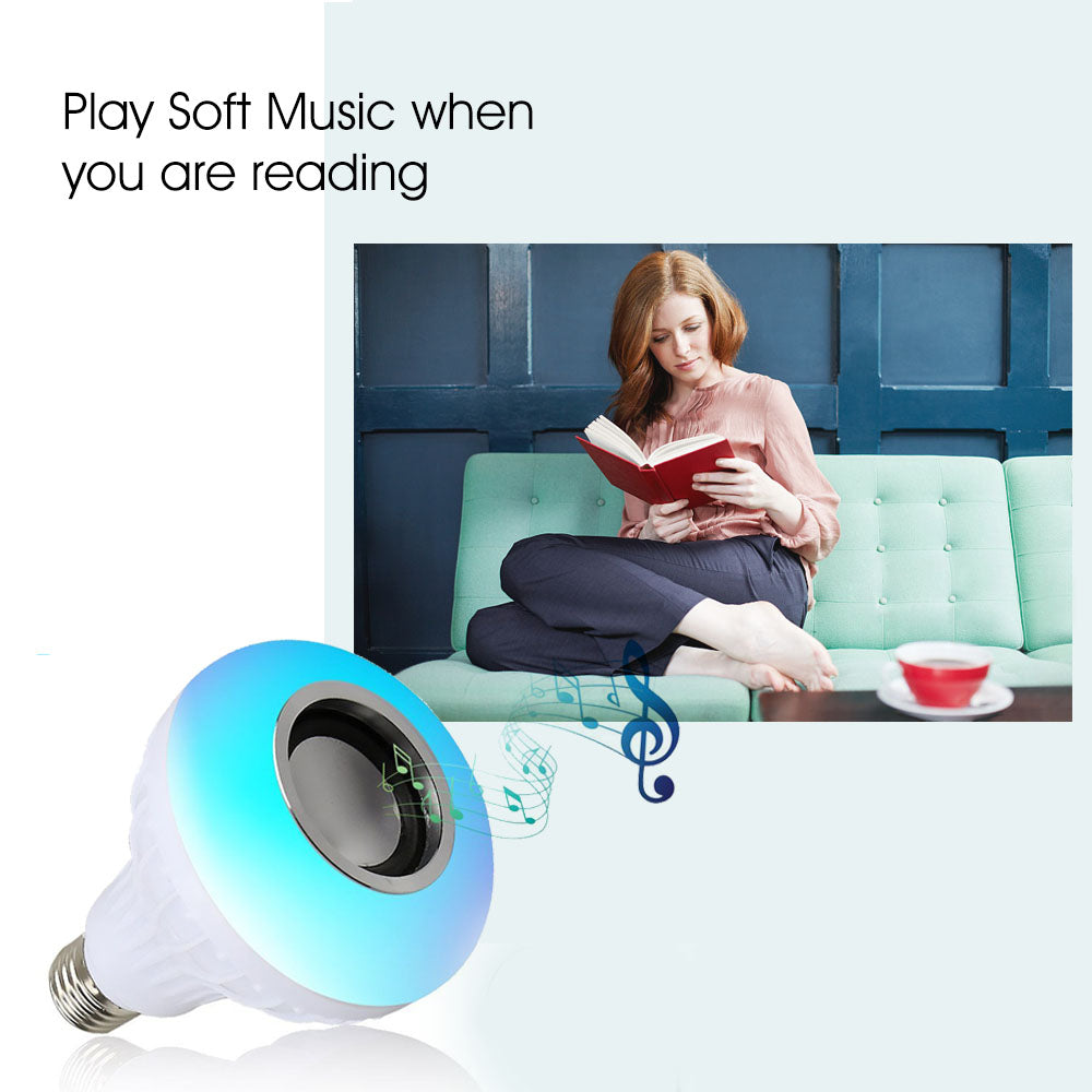Smart Led Bulb Light Wireless Bluetooth Speaker