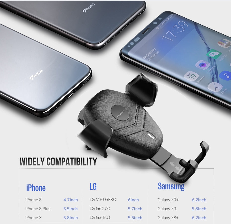 Wireless Charger Car Phone Holder Fast Wireless Charging