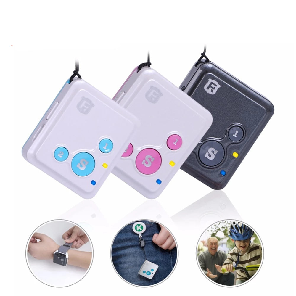 Mini GPS Tracker Children Kids Hand Free - GPS Locator Standby SOS With Call Voice Monitor