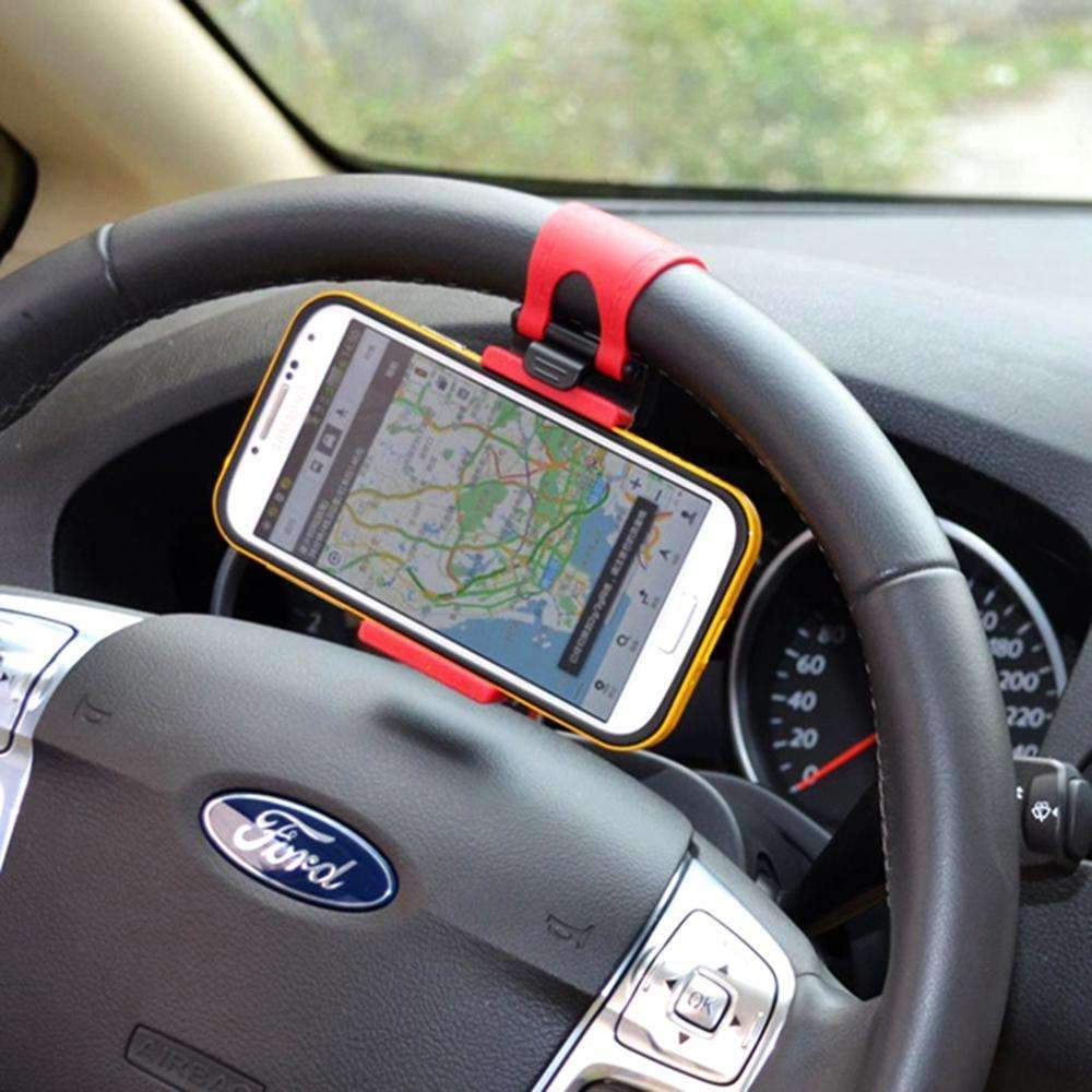 Accessories Smartphone Mobile - Car Phone Holder Steering Wheel - Hands-Free Or Navigation More Easily!