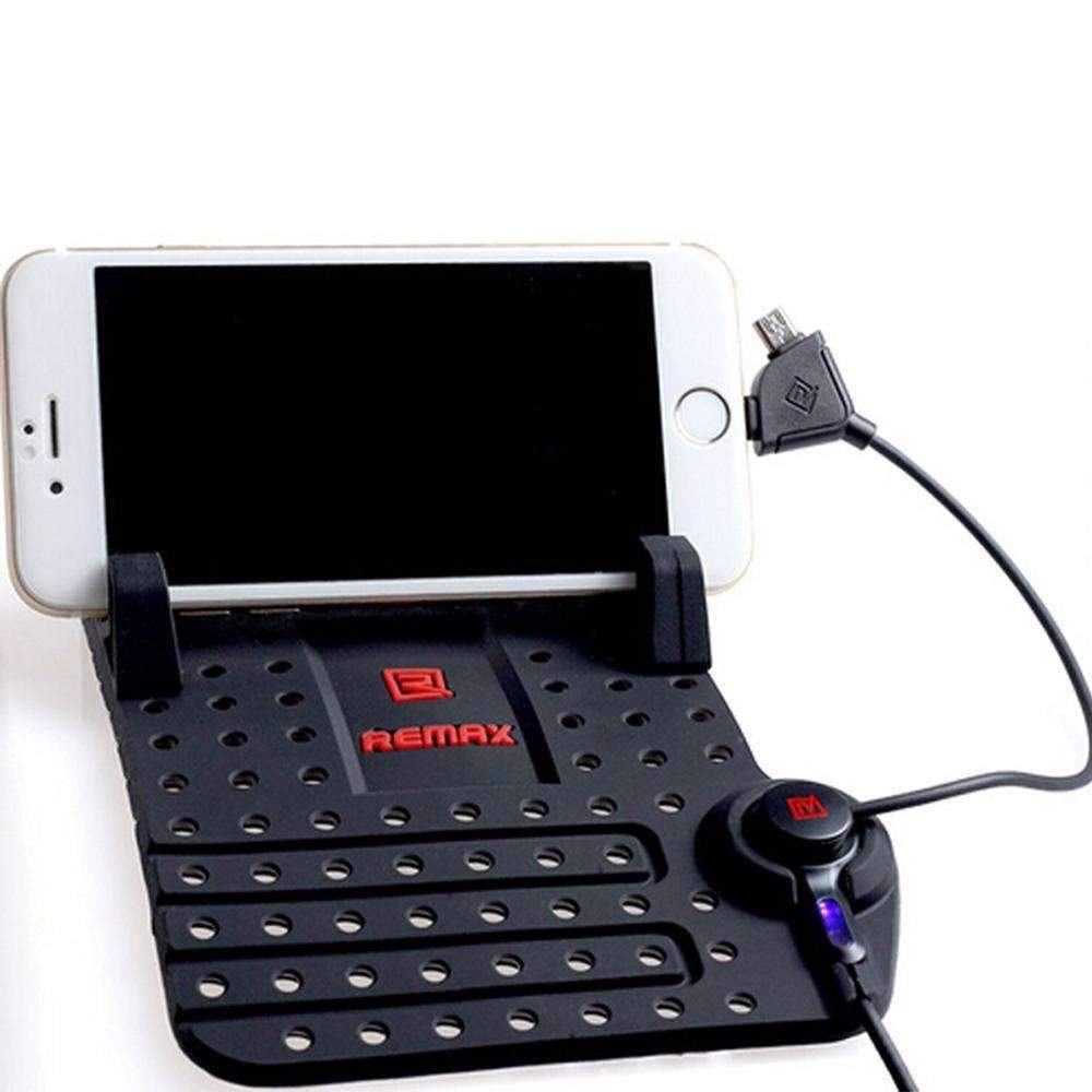Mobile Phone Holders & Stands - Car Mobile Phone Stand Holder USB Connector Magnetic - Antiskid Silicon And Fast Charging