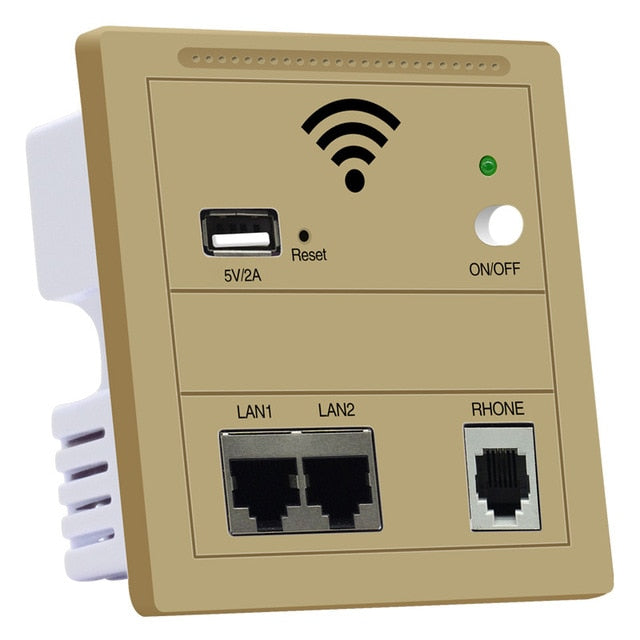 Wireless AP Router WiFi Repeater Panel in Wall 300Mbps