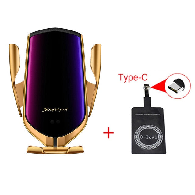 Smart Sensor Wireless Car Charger QI 10W Fast Charging Holder