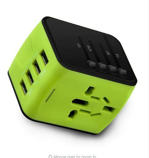 Universal Travel Adapter, Fast charging when you visit various countries!