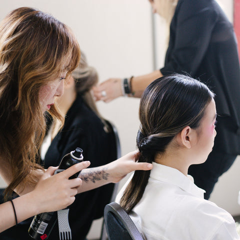VAMFF Backstage Hair Styling
