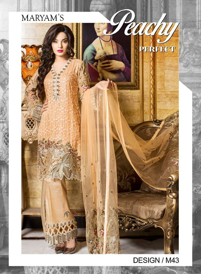 11e66ae05c Pakistani Designer suits by Maryam's M43 Unstitched – H&W Collection