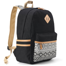Plambag Canvas Backpack Set 3 Pcs, Casual School Backpack for Women Teen Girls