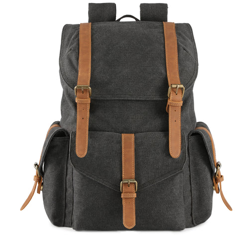 Plambag Men's Canvas Backpack 15.6