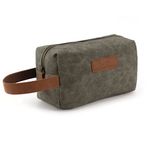 Plambag Waterproof Toiletry Bag Waxed Canvas Travel Cosmetic Makeup Bag