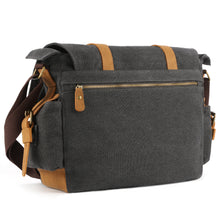 Plambag Canvas Camera Bag DSLR SLR Shoulder Messenger Bag(Dark Gray)