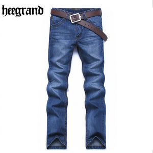 HEE GRAND 2017 Mens Plus Size Solid Comfortable Fashion Jeans Shorts Straight Fit Fashion Male Jeans MKN1005